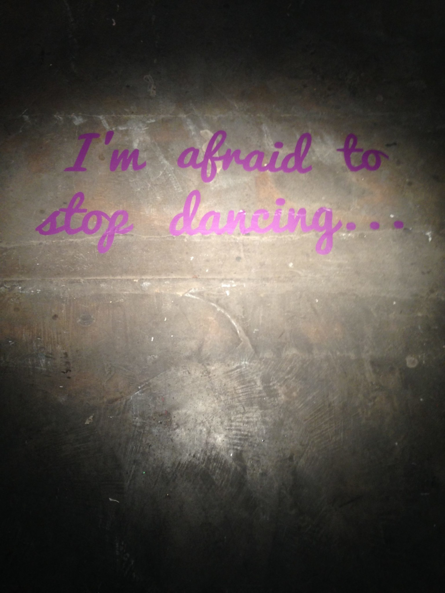 I'm Afraid to Stop Dancing